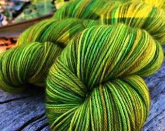 100g Australian Sock Yarn - Lime Juice Tub