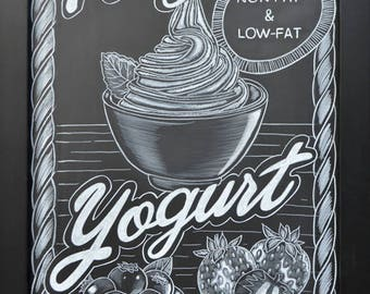 Hand drawn chalkboard restaurant menu callout boards - delivered digitally for printing - Customized with your menu item - Hand drawn chalk