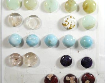 31 cabs 9 - 11 mm Round Cabochons, rare and scarce, natural, ring size, small cab, min order 2 cabs , price is for 1 cab (SC2371)