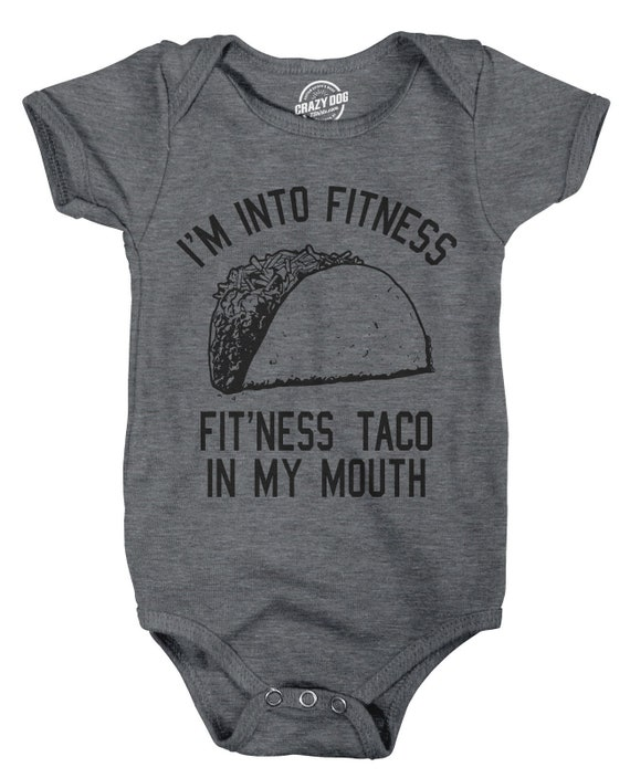 Funny Baby Clothes Baby Creeper Rompers With Sayings Taco Romper