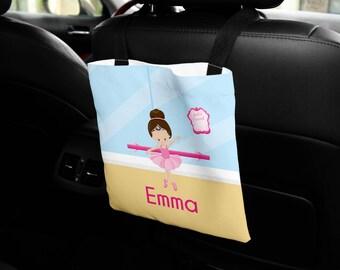 Personalized Car Back Seat Bag - Ballet Class Ballerina Crown Ballet Room, Car Storage, Custom Car Bag, Car Organization, Car Travel Bag