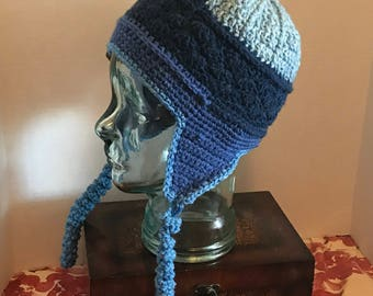 Crochet - Ear Flap hat - hand crafted