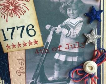 Spirit of 1776 ~~~ Keepsake July 4th ~~~  Card for Indpendence Day