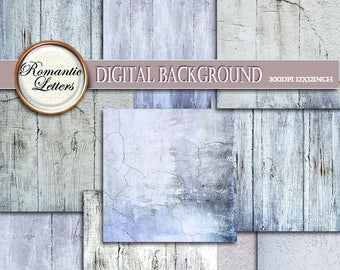Sale 60% White Wood Texture digital paper pack digital scrapbook paper photo backdrops background paper distressed painted wood wedding back