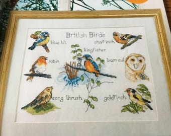 BRITISH BIRDS - Cross Stitch Pattern Only
