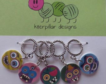 CLEARANCE Snagless Stitch Markers - Monster Mash Series 1