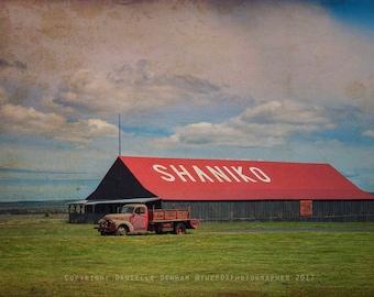 Oregon Photo | Americana Print | Old Farm Truck | Shaniko Oregon | Country Photograph | Oregon | Rural Oregon Photo | Vintage Style Photo