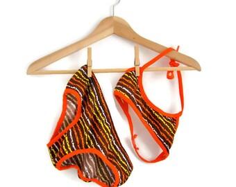 Girls Bikini, Girls Vintage Swimsuit, Vintage Bikini, 70s Bikini, Girls Swimsuit, Little Girls Bikini