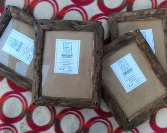 """Rustic/driftwood style frames in locally sourced,recycled pine in medium dark wax finish.To fit 8""""x6"""""""