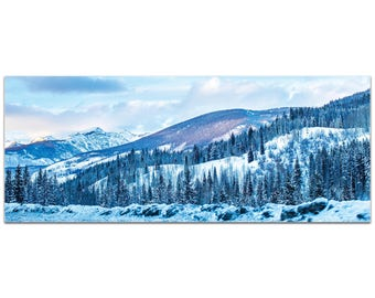 Landscape Photography 'The Slopes' by Meirav Levy - Winter Scene Art Traditional Mountains Decor on Metal or Plexiglass