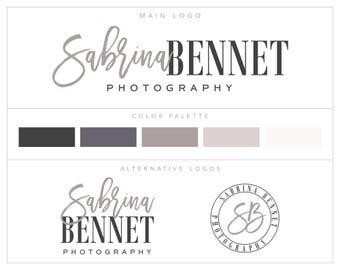 Mini Branding Package, Premade  Photography Logo Kit, Marketing Kit, Branding Set, Brand Board bp76