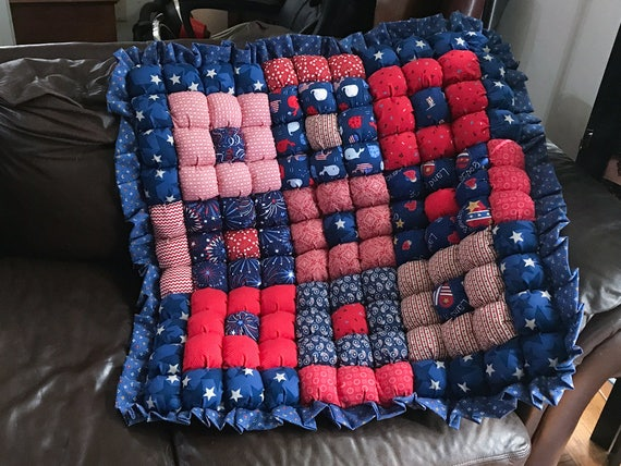 CLEARANCE SALE: Baby Bubble Quilt Patriotic Red White and Blue : red quilts clearance sale - Adamdwight.com