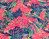 Multi Rainbow Soliel  cotton dobby 6 X 6,  9 X 18 inches or 18 X 18 inches or one yard  ~Authentic Lilly Pulitzer fabric~