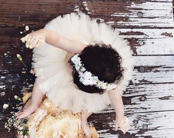 Flower crown-  flower halo- bridal flower crown- Well dressed wolf- baby flower crown- Flower Girl crown- wedding headpiece