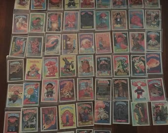 1980s Garbage Pail Kids cards/stickers lot of 60 lot #1