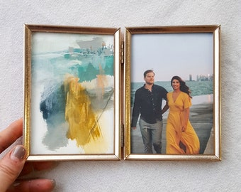 TINY - Personalized Custom Abstract Painting from YOUR Photo | Unique Engagement gift, Anniversary gift, Wedding gift, WALLET size, Tiny Art