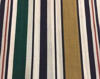 CIJ2017 Vintage Cotton Quilting Fabric, Multi Color Stripe,Fabric,  Multi Width Stripe Fabric