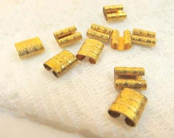 Victorian jewelry supply - Brass Vintage Connectors - Vintage Etched Brass Bracelet Connectors -