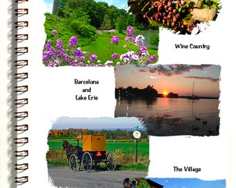 Westfield NY Vacation Journal with 4 postcards - travel pack - photography - description pages - map -