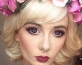 Marilyn / Custom RUSH for Stephanie // Platinum Chin Length Blonde White Wig Short Synthetic Hair