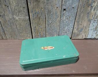 Horrocks-Ibbotson Pocket Tackle Box, Best by Test, Mini Metal Tackle Box, Stash Box, Secret Storage, Metal Trinket Box