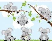 30% OFF - Clipart - Koala Bears - Digital Clip Art (Instant Download)