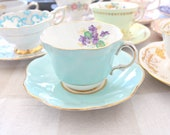 TEA CUP, Vintage Tea Cup and Saucer by Royal Taunton, English Bone China, Replacement China, Tea Party