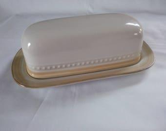Vintage Johann Haviland China Covered Butter Dish - Butter Dish - Stoneware Butter Dish - Covered Butter Dish - Crowning Fashion