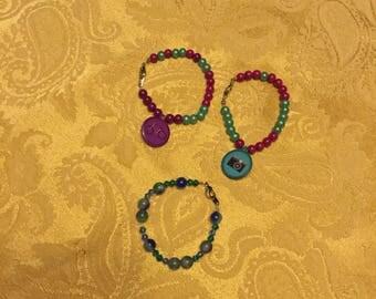 Beaded girls bracelets