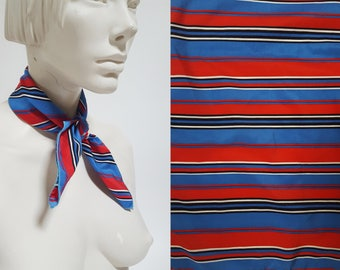 1970s Red White Blue Striped Scarf
