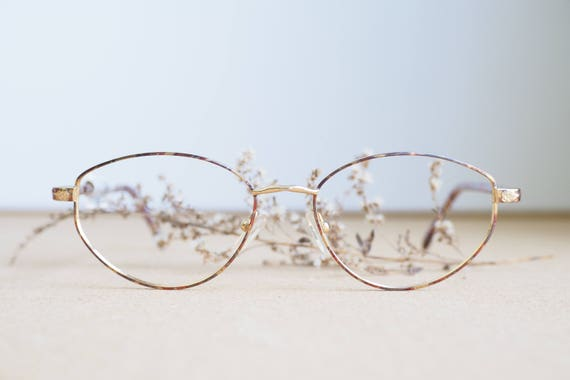 Vintage 90s Eyeglass/Wire rim/New Old Stock/ Frames/Oval
