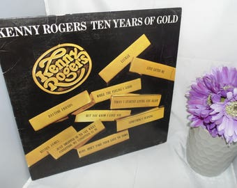Vintage 1977 Vinyl Record LP 33RPM Kenny Rogers Ten Years of Gold LO-835 Liberty