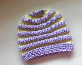 Hand Knitted, Crochet,Colorful  Baby Girl or Boy Hat,  Baby Shower, Gift, New Born ready to ship