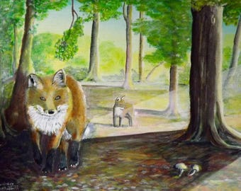 Foxlight Print of  Original Painting by Dave smith