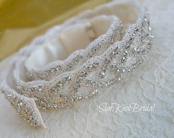 Bridal Belt Finished with Hook/Eye Closure, 37 inches Waist, Crystal Wedding Belt, All Around Rhinestone Belt BRIANNA