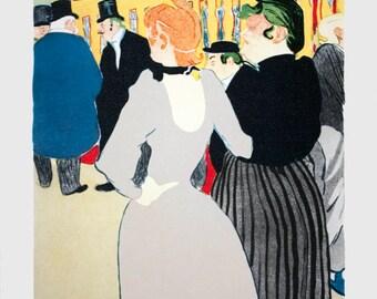 "Henri de Toulouse-Lautrec-The ""Goulue"" and Her Sister-1970 Poster"