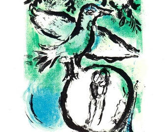 Marc Chagall-Affiche Galerie maeght-1963 Mourlot Poster
