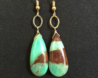 Chrysoprase and 14kt Gold Filled Earrings