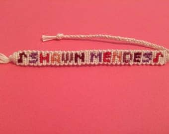 Shawn Mendes Woven Floss Friendship Bracelet