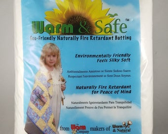 Warm & Safe Baby Crib Size Naturally Fire Retardant Batting NEW