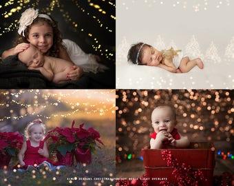 Christmas Fantasy Bokeh Light Overlays, Photoshop Overlays, Light Overlays, high quality Bokeh Light, Photoshop Overlays for Photographers