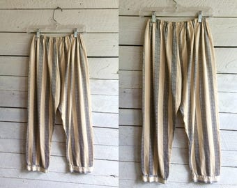 50s satin pajama pants - satin lined with flannel