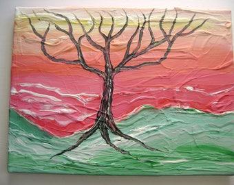 Neo Utopia - Original Acrylic Painting Canvas - 12 x 16