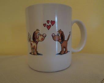 Vintage Puppy Love Mug Dog Lovers Vagabond Creations Papel