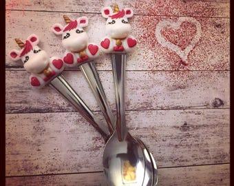 cuillere unicorn lover de la saint valentin