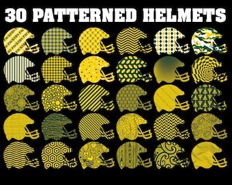 Football helmet, patterns, football, clipart, green, gold, helmet, Green Bay Packers, Packers, digital, vector, clip art, SVG, vinyl