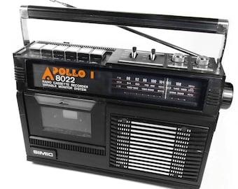 Apollo 8022 Vintage Portable Retro Radio Cassette Recorder Player Boombox