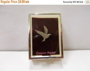 ON SALE Vintage Pewter Seagull Tie Tac Item K # 2649