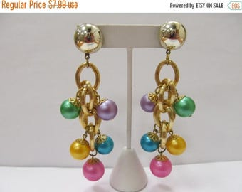ON SALE Retro Colorful Dangling Bauble Earrings Item K # 2287