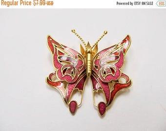 ON SALE Vintage Enameled Butterfly Pin Item K # 2442